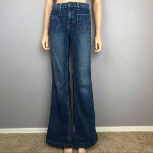 J Brand WONDERAMA Flare Jeans Stretchy Mid Rise